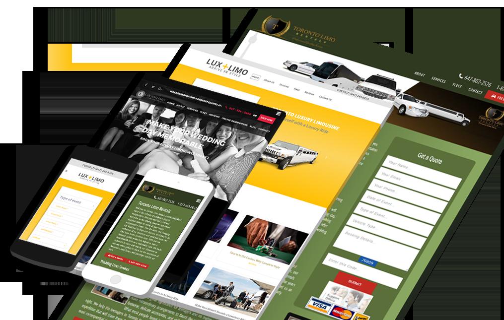 Limo Website Design Toronto